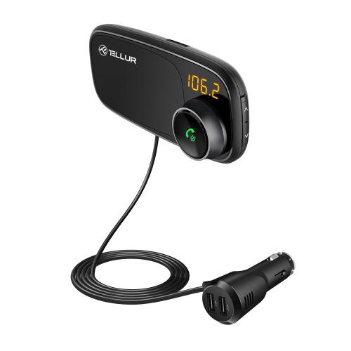 Bluetooth FM Трансмитер Tellur FMT-B6 с магнитна стойка за телефони